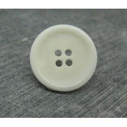 Bouton 9 ivoire végétal blanc cassé 20mm