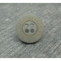 Bouton 16 roue gris 15mm
