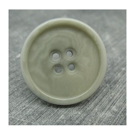 Bouton 17 ivoire végétal gris 27mm