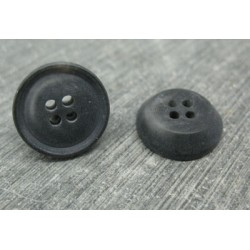 Bouton 19 imitation corne anthracite 17mm