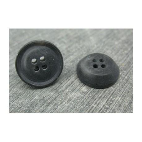 Bouton 19 imitation corne anthracite 17mm
