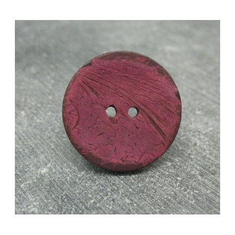 Bouton coco rouge 25mm