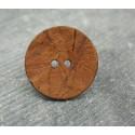 Bouton coco orange 25mm