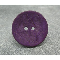 Bouton coco violet 25mm