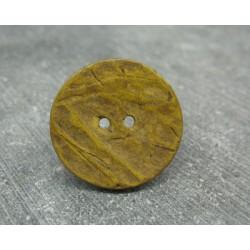 Bouton coco jaune 25mm