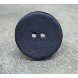 Bouton coco bleu 25mm