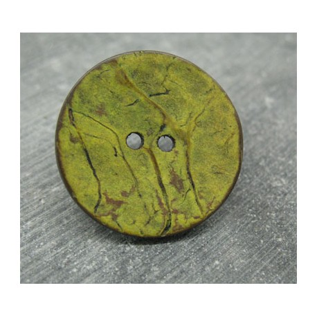 Bouton coco vert anisé 30mm
