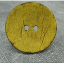 Bouton coco jaune 30mm