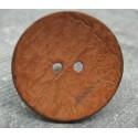 Bouton coco orange 40mm