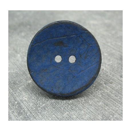 Bouton coco bleu 30mm