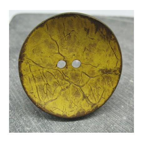 Bouton coco jaune 50mm