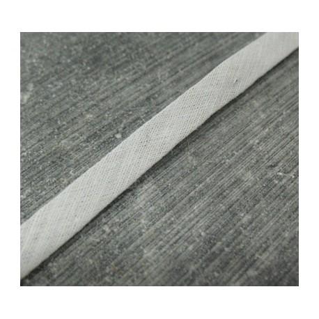 Biais coton plié gris 7mm fini