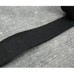 Biais coton plié noir 15mm fini