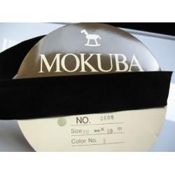 Velours Mokuba noir 38mm