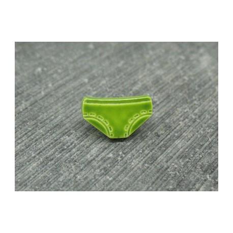 Bouton petite culotte vert 10mm émaillé verni