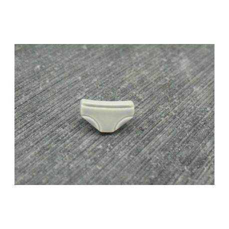 Bouton petite culotte gris 10mm émaillé verni