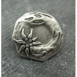 Bouton edelweiss 27mm