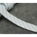 Passepoil coton ligné blanc ciel 10mm