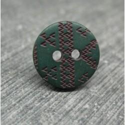 Bouton apache vert 12mm