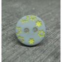 Bouton étoile ciel jaune 12mm