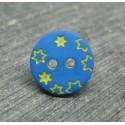Bouton étoile rouge bleu  12mm