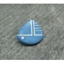 Bouton voilier bleu 13mm
