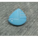 Bouton voilier turquoise 15mm