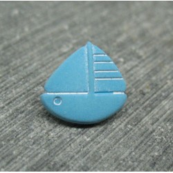 Bouton voilier turquoise 13mm