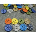 Lot 48 boutons cible 15mm