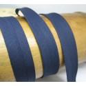 Biais N°52 marine polycoton préplié 9mm fini