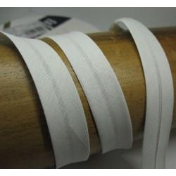 Biais N°58 gris clair polycoton préplié 9mm fini