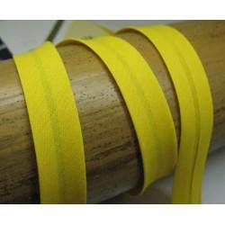Biais N°61 jaune citron polycoton préplié 9mm fini