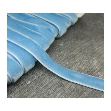 Ruban velours bleu ciel 9mm