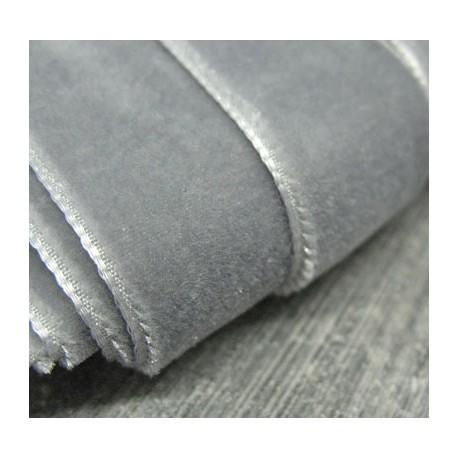 Ruban velours gris 23mm