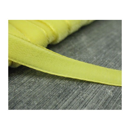 Ruban velours jaune poussin 8mm