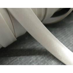 Biais toile plié blanc cassé 6.5mm fini