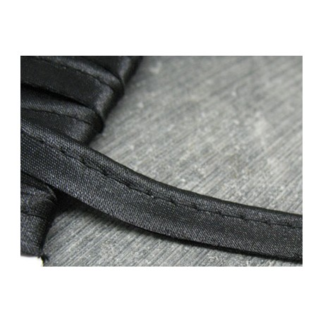 Passepoil satin noir 10mm