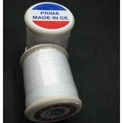 Bobine fil Prima polyester blanc 250m