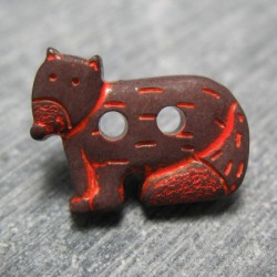Bouton chien du desert marron 18 mm b49