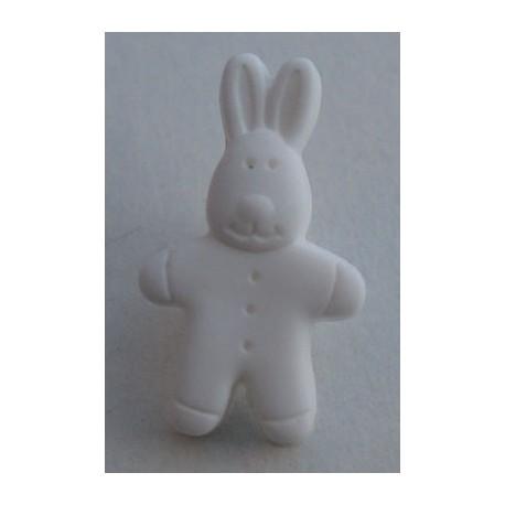 Bouton lapin blanc 18 mm b2