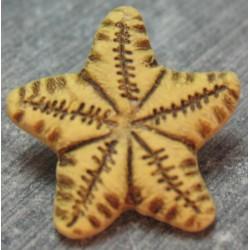 Bouton étoile de mer ocre 18mm