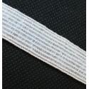 Elastique blanc 15mm