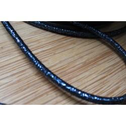 Elastique rond bleu marine lurex 3mm