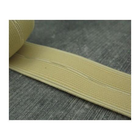 Elastique boutonniere beige 25mm