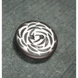 Bouton fantaisie vieux rose 20mm