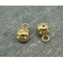 Bouton boule métal or 9mm