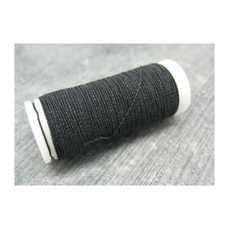 Elastique rond noir 0,5mm