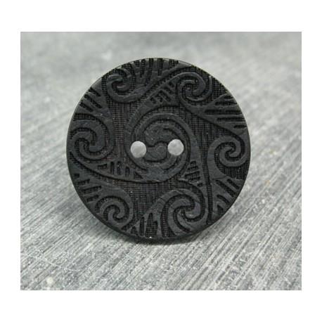 Bouton coco laser noir 25mm