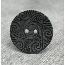 Bouton coco laser noir 30mm