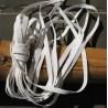 Elastique blanc  8mm